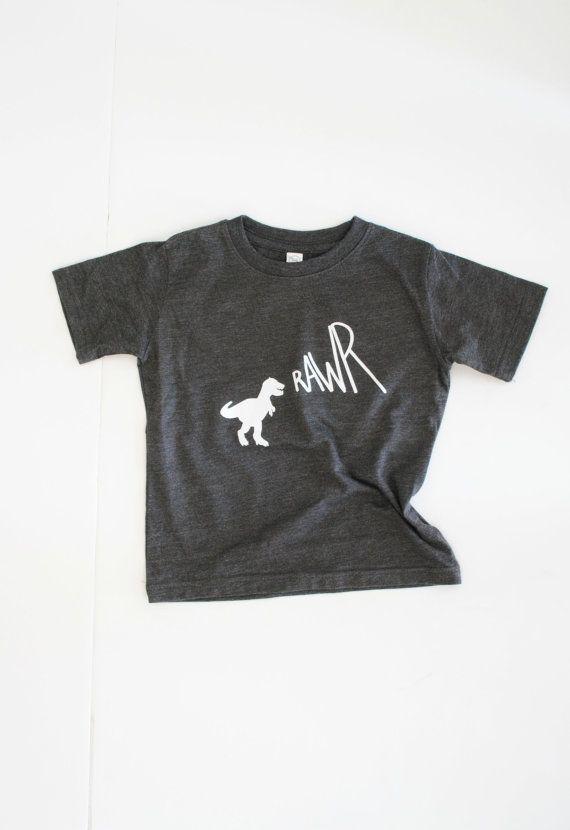 RAWR / vintage graphic tee / baby toddler kid / by PeriwinkleJazz