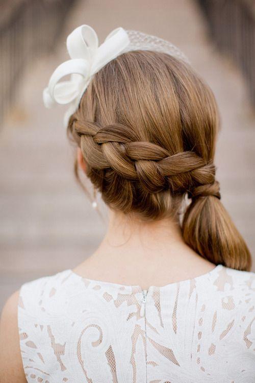 Braided Side Ponytail for flower girls!