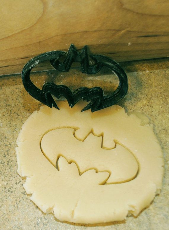 SMALL Batman cookie cutter 2 inches wide by BoeTech on Etsy, $5.50