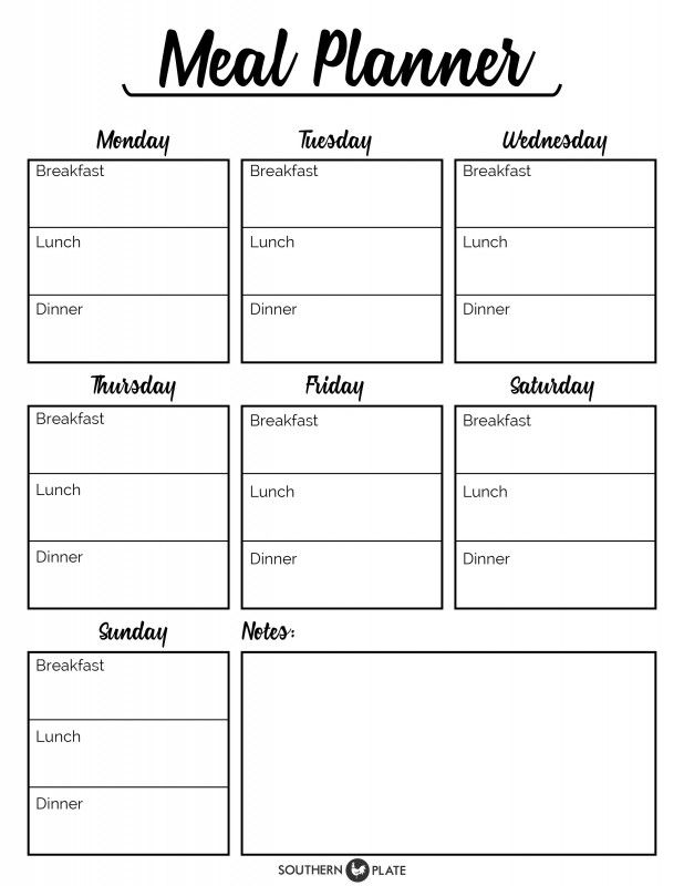 Best  Menu Planner Printable Ideas On   Meal Planner