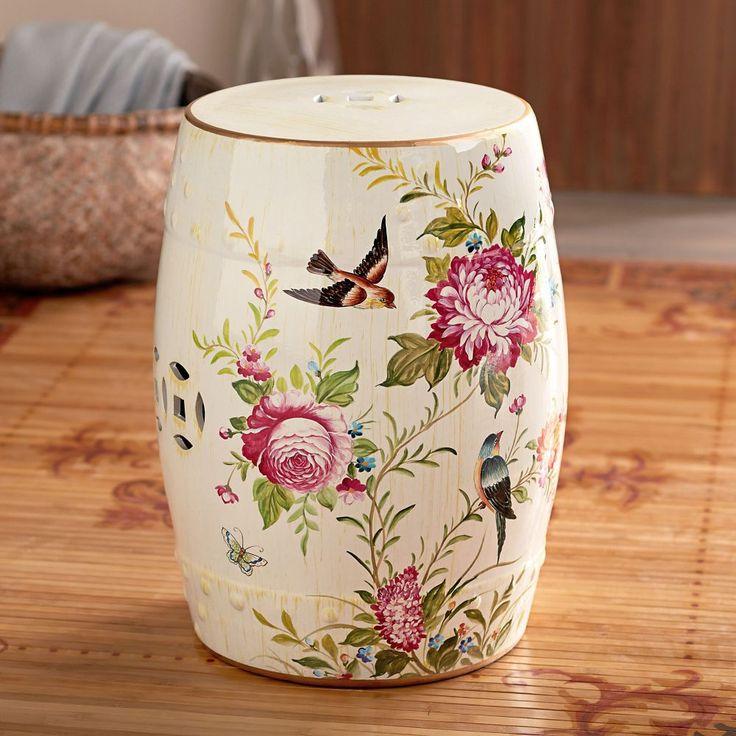 This ceramic garden stool is emblematic of spring awakenings. Chinese Peony Ceramic Garden Stool | National Geographic Store