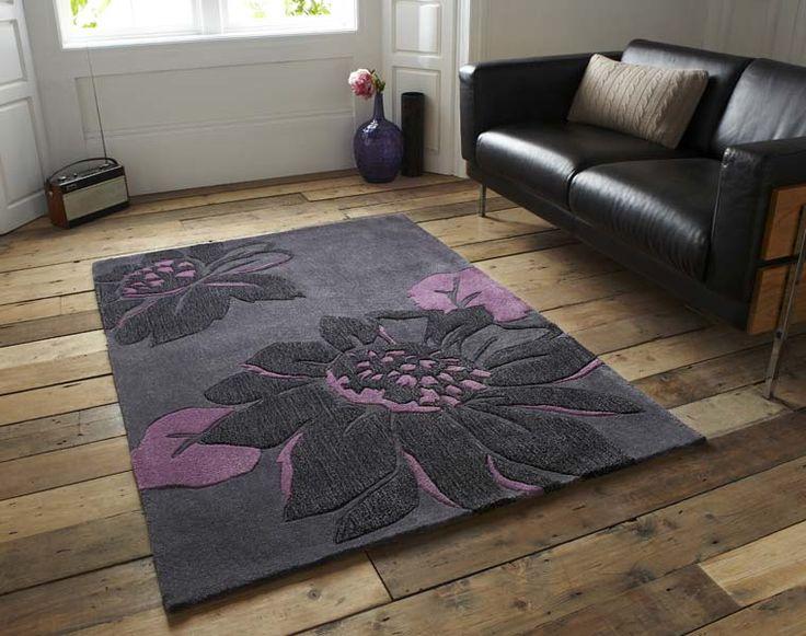 Hj567 Charcoal Purple Le House Rug Grey Rugs Uk