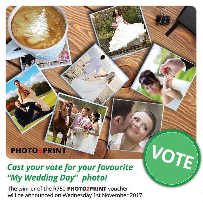Vote now for our finalists!!! https://contest.fbapp.io/vote-my-wedding-day-competition The winner of the R750 gift voucher will be announced on Wednesday 1st November 2017.  #votenow
