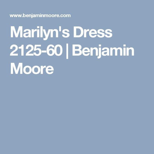 Marilyn's Dress 2125-60  | Benjamin Moore