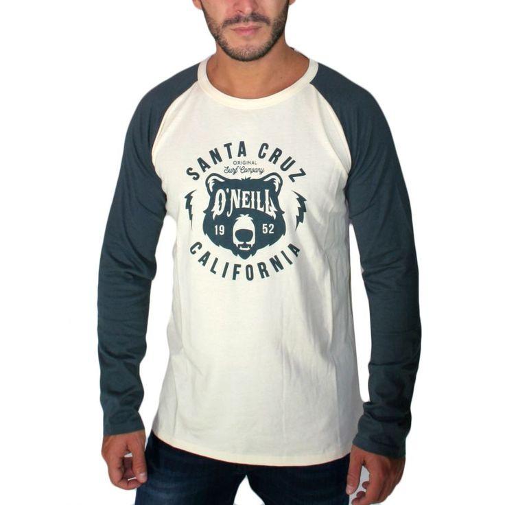 O'NEILL,Ανδρική κοντομάνικη μπλούζα, regular fit, εκρού-μπλέ