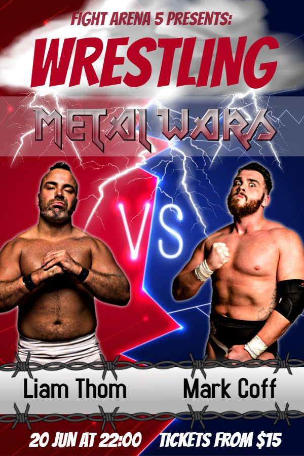 Printable Pro Wrestling Tournament Poster Template Wrestling