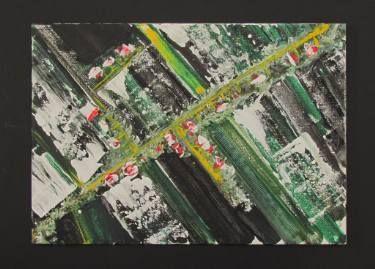 "Saatchi Art Artist aurelian dumitrescu; Painting, ""spring geometry"" #art"