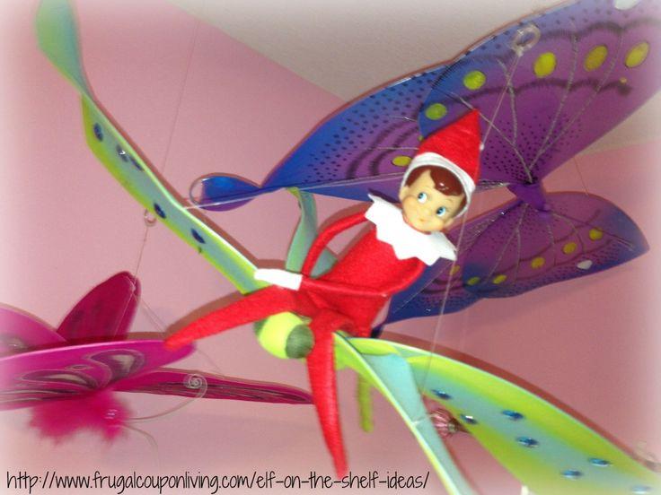 Elf on The Shelf Ideas – Butterfly or Dragonfly Rides #ElfontheShelf #ElfontheShelfIdeas