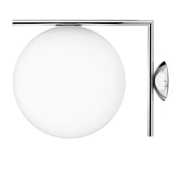 IC Lights C/W2 Wall Lamp/Ceiling, Chrome, Flos