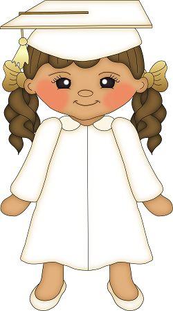 GRADUATE LITTLE GIRL CLIP ART