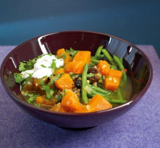 Süßkartoffel-Curry
