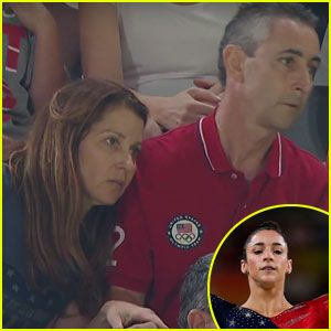 Aly Raisman's Parents Go Viral Again After Nervously Watching Rio Olympics! (Video)