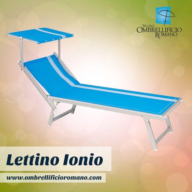 """Per chi ci ha richiesto informazioni sul lettino """"Ionio"""" a tre posizioni. Eccolo! Visualizzabile anche con altra texture da questo link: http://www.ombrellificioromano.com/lettini-da-spiaggia-roma/"""