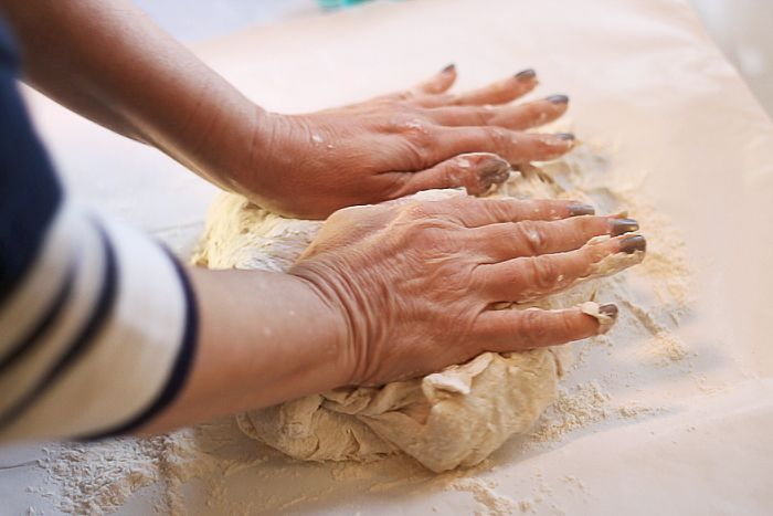 Julie Ann Art: How To Make Dough Without A Mixer