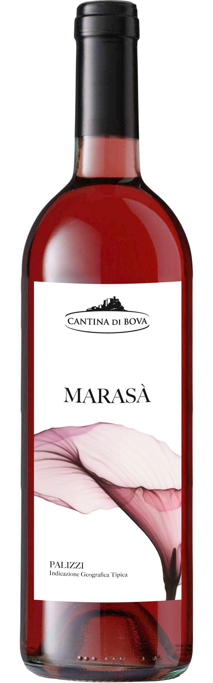 """Etichetta vino rosato """"Marasà"""" - Cantina di Bova - RC"""