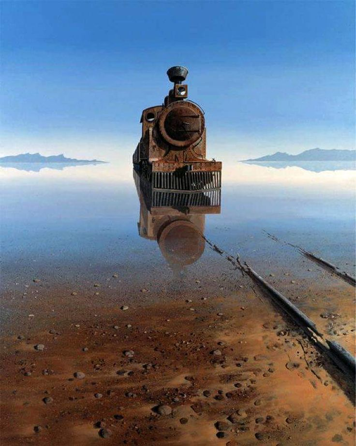 Steampunk Tendencies Abandoned train in Salt Desert Bolivia. Photo: Keith Alexander —  with Castaño Guiller