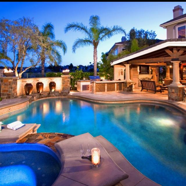 Backyard Pool Pool House: Dream Backyard #DriscollsSweepstakes