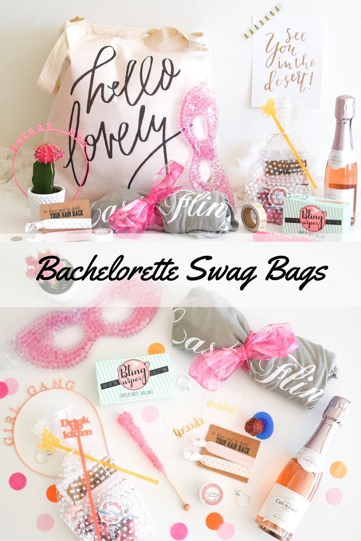 Ways To Decorate Gift Bags - The cutest bachelorette party swag bags