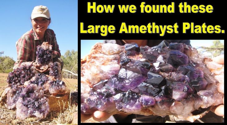 How We Found These Large Amethyst Plates Liz Kreate