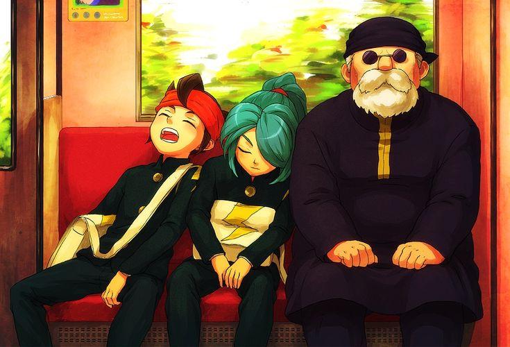 Fanart by ゆ. Mamoru Endo, Kazemaru Ichirouta and Hibiki Seigou from Inazuma Eleven.