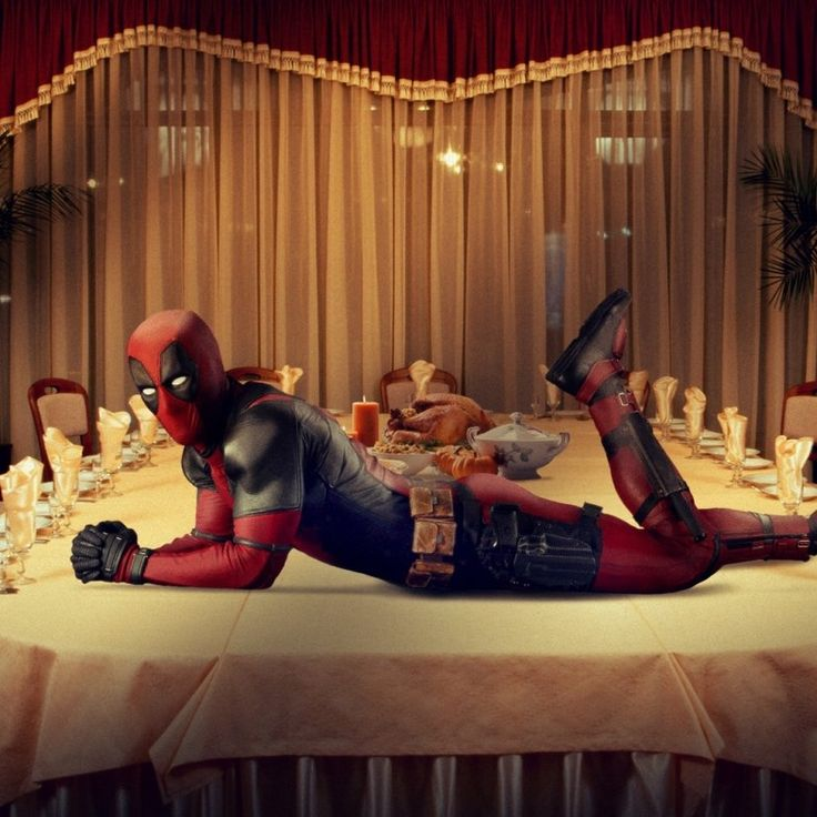 Deadpool Thanksgiving promo image Deadpool Wishes Fans a Happy Thanksgiving in New Promo Image