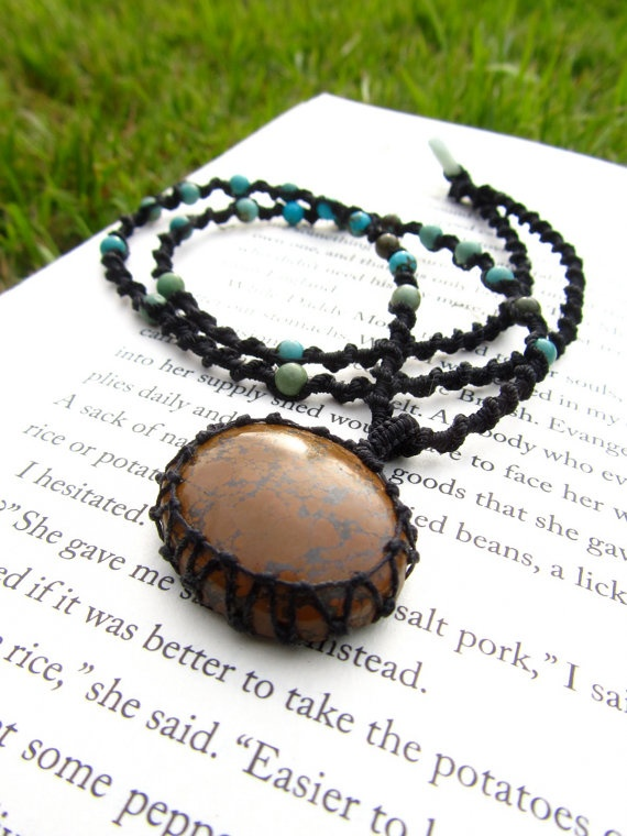 Expression Boulder Opal and Turquoise by PeaceofStoneStudio
