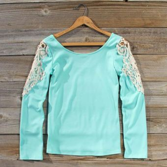 The pale blue  is simple but the lace shoulders make u look girly. this is a simple laid back day. wear with some blue jeans and I promise u'll get attention.