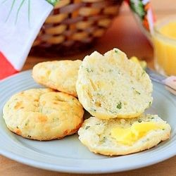Flaky, buttery, and cheesy savory biscuits with buttermilk, scallions, and cheddar.