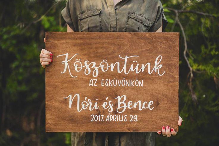 DEKORTÁBLA Köszöntünk az esküvőnkön Üdvözlő tábla esküvőre  Welcome sign