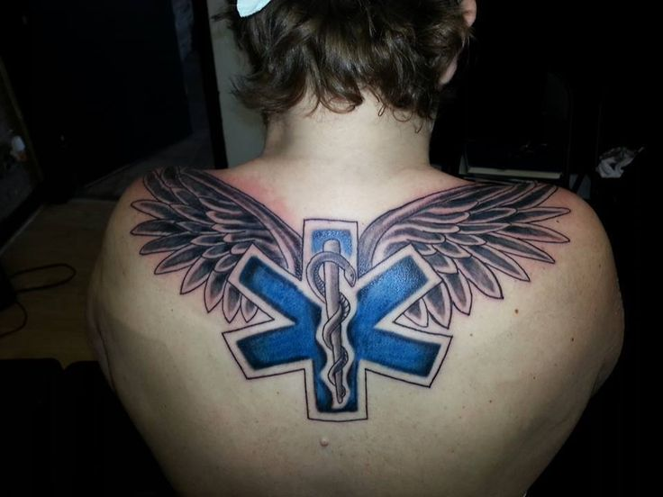 Star Of Life Tatoo: Star Of Life W/ Wings