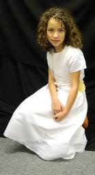 Abbie White Communion Dress and Bolero Set