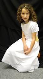 Abbie White Communion Dress and Bolero Set