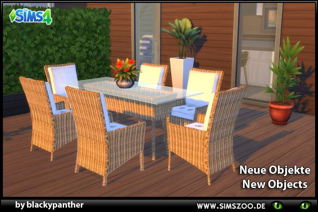 Dining set conversion by blackypanther the sims 4 build for Mobilia zoo