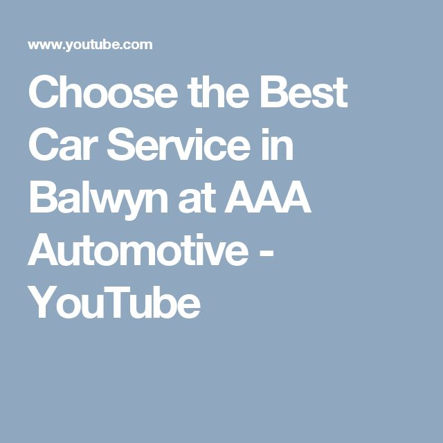 Choose the Best Car Service in Balwyn at AAA Automotive - YouTube