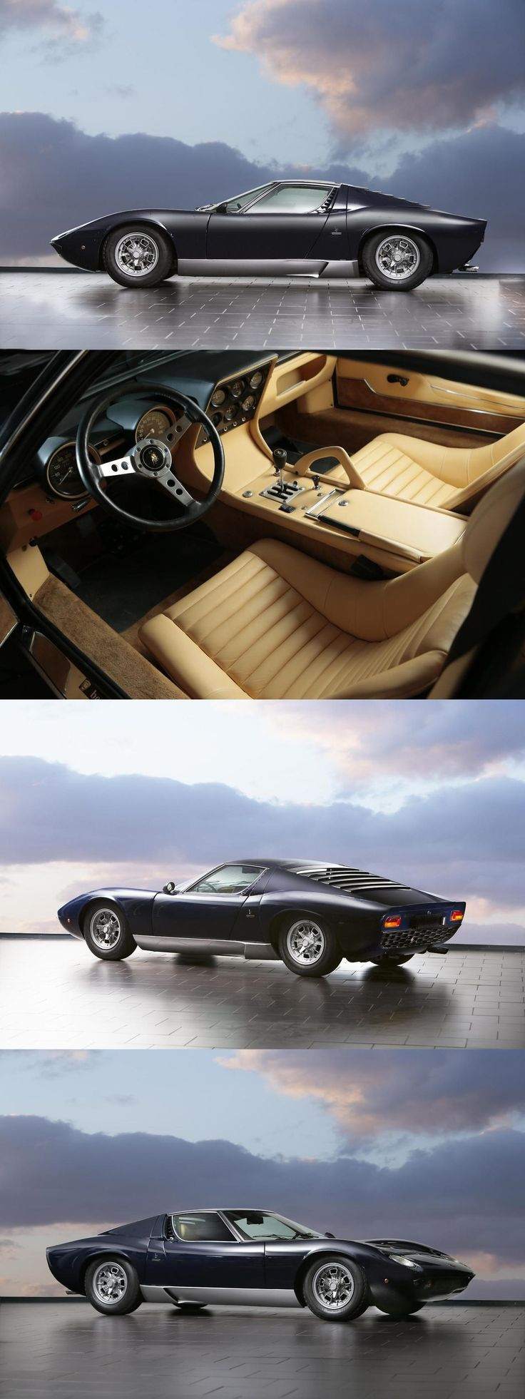Lamborghini Miura - saw one in a junkyard once, I sat in it's dirtiness and made vroom noises...