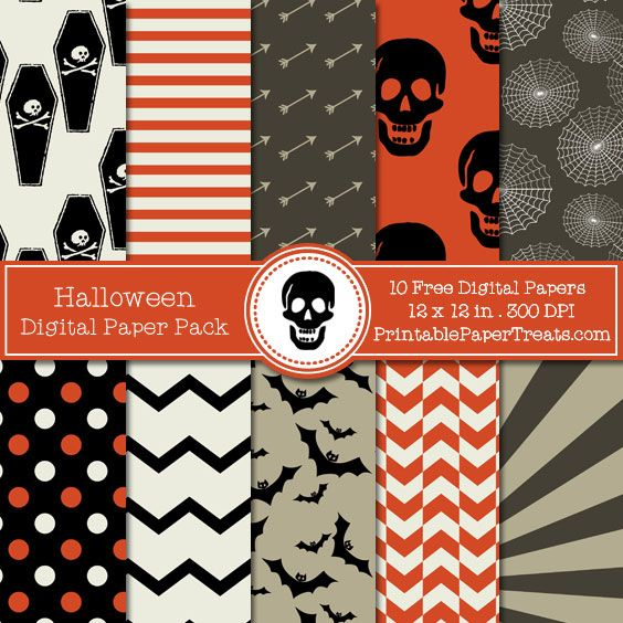 Free Halloween Digital Papers Pack                                                                                                                                                     More