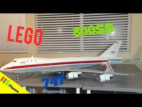 Lego 747 Passenger Plane Youtube Lego Legos Plane