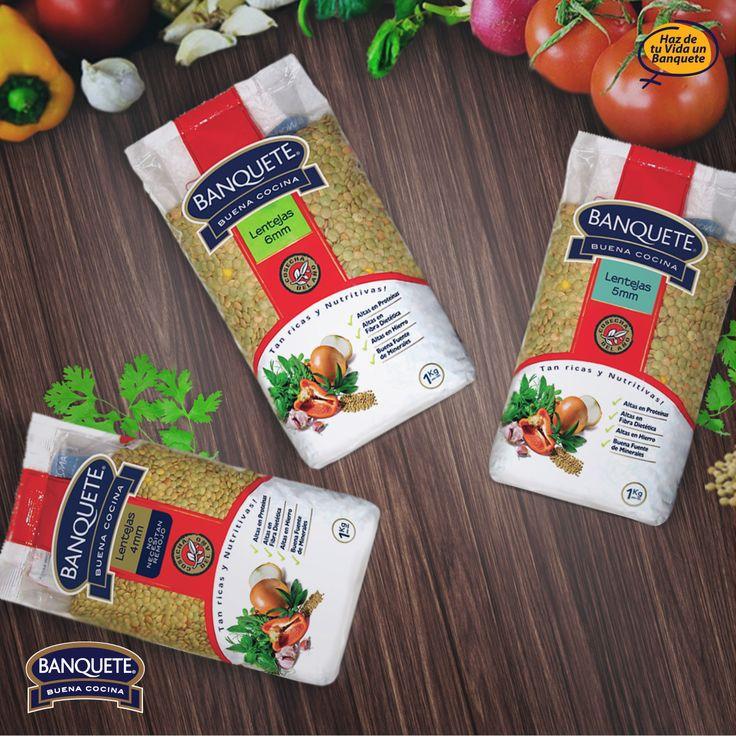 ¡Prueba todas las variedades de Lentejas Banquete! www.banquete.cl