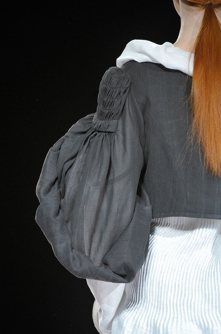 Modern Interpretation of early 19th-century sleeve: Yohji Yamamoto Spring 2012