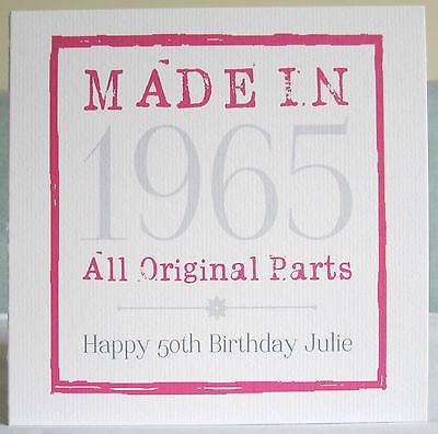 Personalised Handmade Age Birthday Card Female 18th 21st 30th 40th 50th ANY YEAR in Crafts, Cardmaking & Scrapbooking, Hand-Made Cards   eBay