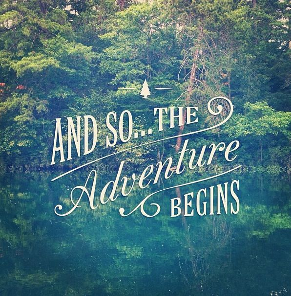 and so... the adventure begins travel often create