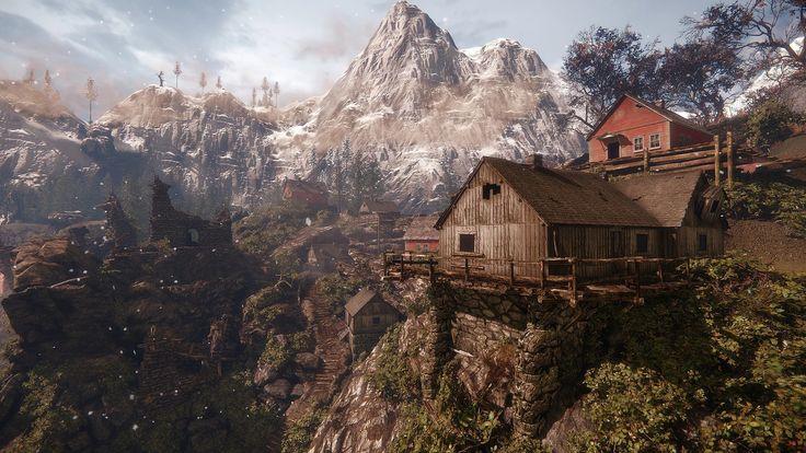 ArtStation - Village on mountain, George Kaloudakis