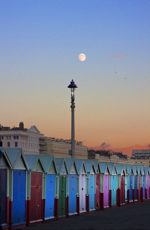 Hove Beach Huts, Autumn Sunset. A Canvas of this image can be seen at Somerhill Dental Surgery, 26 Farm Road, Hove. Image Copyright©Tony Bowall FRPS. www.tonybowallphotography.com. Repins welcome with credit above.