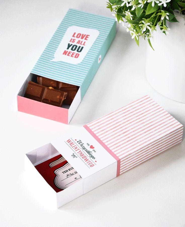 Walentynkowe pudełka na prezent | Valentine's Day Printable Box