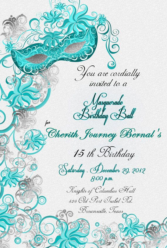 best 25+ masquerade invitations ideas on pinterest | masquerade, Invitation templates
