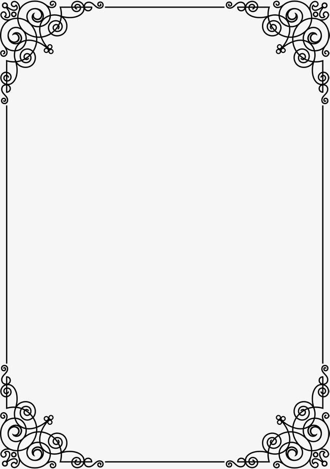 La Linea De Black Frame Black Linea Frame Png Imagen Para Descarga Gratuita Pngtree Bordes Y Marcos Bordes De Diplomas Marcos Para Trabajos