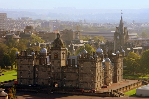 George Heriot's School - the rest of the school and the schools gardens/grounds surrounded the main Greyfriar's building that you see here in the middle.