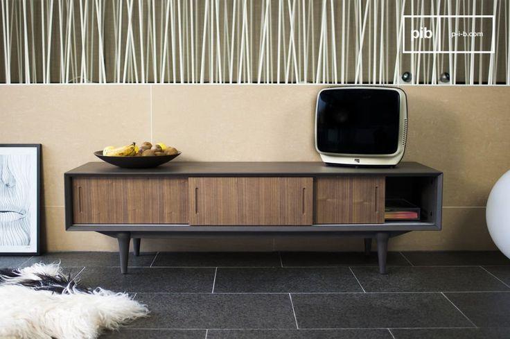 El mueble TV Tumma Fjord es un mueble TV retro que se puede colocar en cualquier interior.