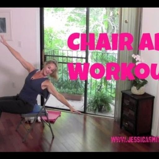Chair Abs Workout with Jessica Smith @MoveMeFit.  Check out the full workout: https://www.movemefit.com/videos/chair-abs-workout-with-jessica-smith
