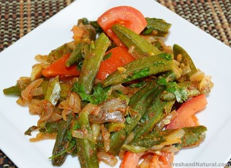 Spicy Okra- Indian Bhindi Masala  Here is a delicious dish with wonderful mix of healing herbs and spices. Click on the link for full recipe details...